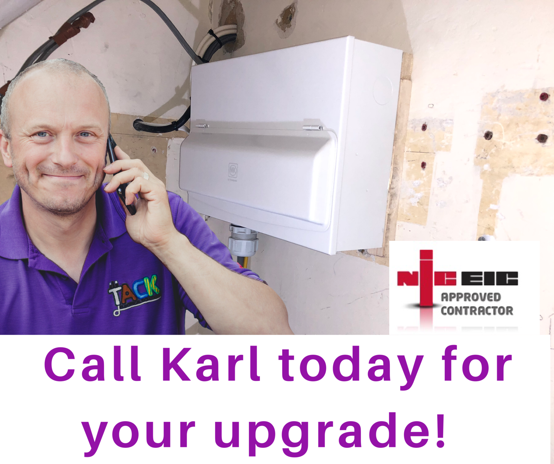 Call Karl Your Local Electrician in loughton today
